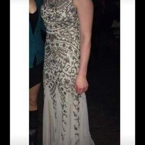 Aidan Mattox High Neck Gown